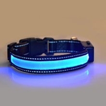 Solar USB Rechargeable Dog Cat LED Collar Night Safety Glow Flashing Dogs Leash Luminous Puppy Necklace(China)