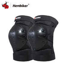 HEROBIKER Motorcycle Knee Protector Bicycle Cycling Bike Racing Tactical Skate Protective Knee Pads Guard Black Protection Pads(China)