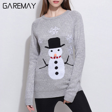 Pull Femme Christmas 2017 Kawaii Sweater For Women Sweaters And Pullovers Winter Knitted Tops Sweater Ladies Jumpers GAREMAY