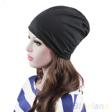 Men's cap Winter Slouch Crochet Knit Hip-Hop Beanie Hat Cap 22B3 Cap female winter women's hat(China)