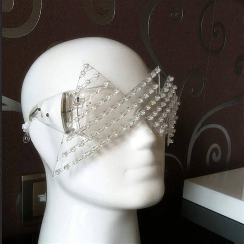 New Product Led Glasses Luminous White Lighting Halloween Glasses For Parties Event Party Supplies Free Shipping02