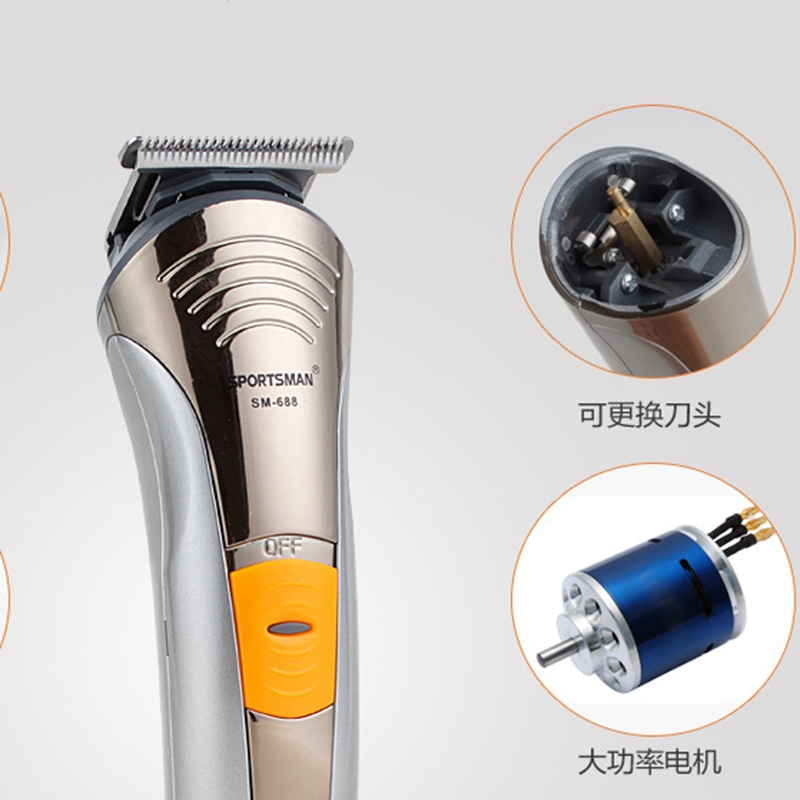 Hair Clipper Professional 2017 New Rechargeable Shaving Trimmer Hairdressing Beard Trimmer 110-240V Kit maquina de cortar cabelo<br>