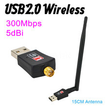 300Mbps USB Mini Wireless Network LAN Adapter Card WIFI 802.11n/g/b 5dB PCB Antenna for Windows Vista XP PC Laptop