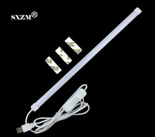 SXZMUSB light 35CM led hard strip with Switch on/off SMD3014 LED Rigid Strip Hard Bar Light Tube Lamp DC5V indoor reading light(China)