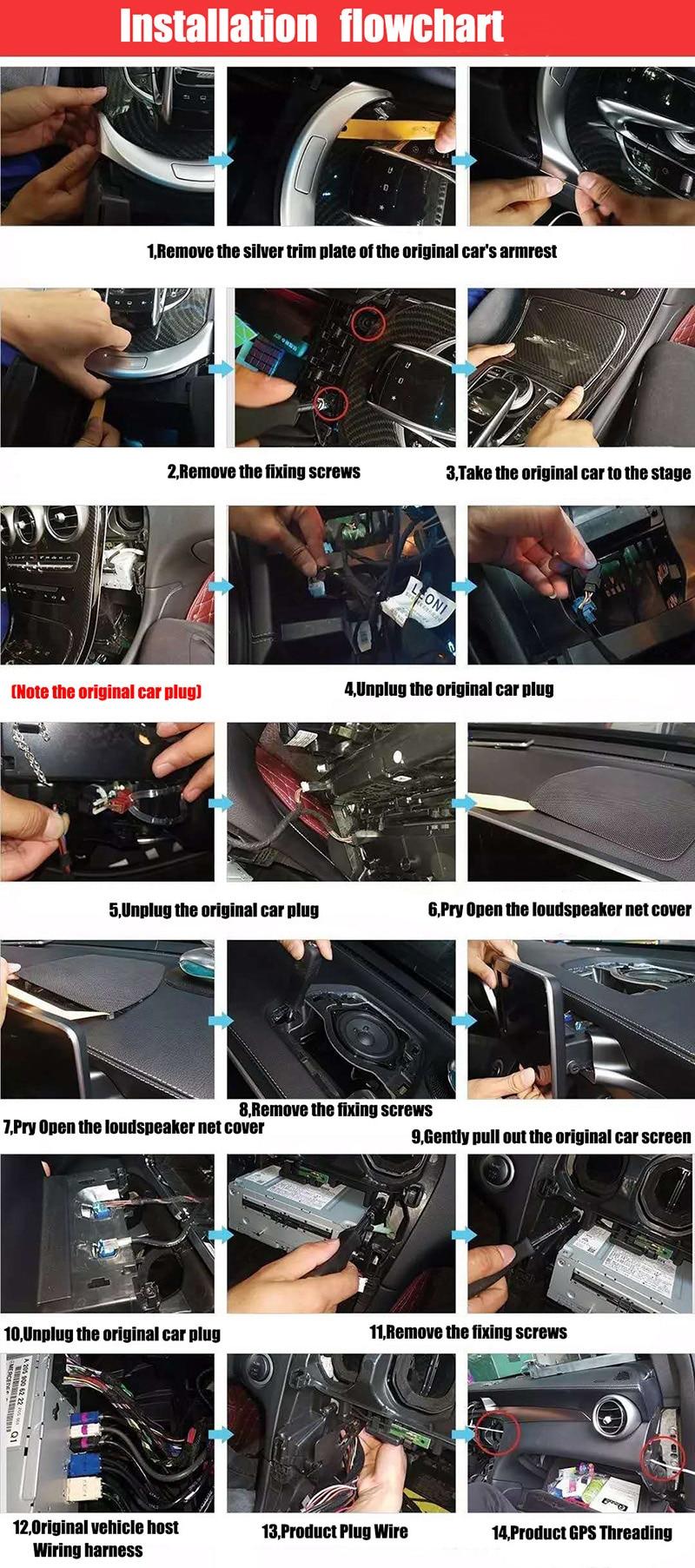 Liislee Car Multimedia Player NAVI For Mercedes-Benz MB C Class W205 C205 A205 S205 2015~ 2018 Car Radio Stereo GPS Navigation (7)