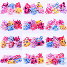 Wholesale Mixed Colours Baby Kids Girl Cartoon Hair Elastic Band Ponytail Holders Hair Band Fashion Hair Jewelry Accessories