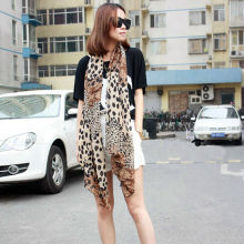 Hot Women Pop Chiffon Wrap Stole Soft Leopard Print Scarf Fashion Scarves Shawl