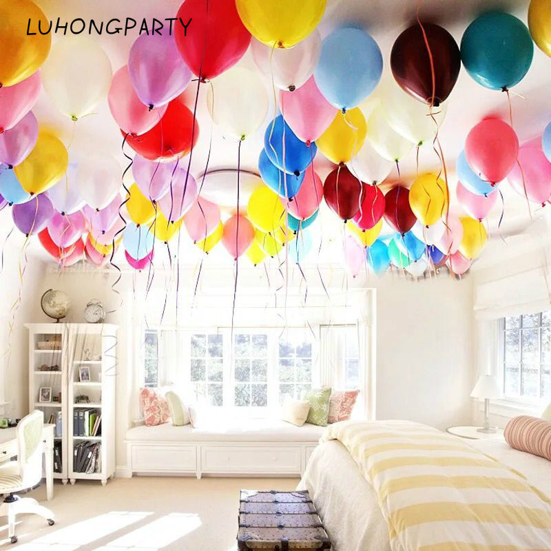 cheap 100pcs 10'' 1.2g Round Shape Latex Pearl Balloons Party Decorate Valentine's Day Happy Birthday Wedding Decoration Balloon 1