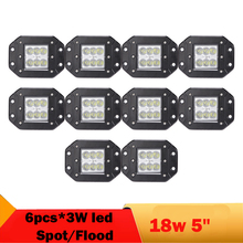 18W 5 Inch LED Work Light For KIA Ford Toyota BMW SUV Waterproof 1800LM Day Running Lights Wagon Truck Boat Bus Headlight IP68(China)
