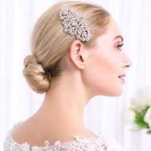 Miallo Bridal Hair Comb Vintage Hair Clips Bridemaid Prom Flower Crystal Rhinestone Headpiece Wedding Hair Accessories Jewelry