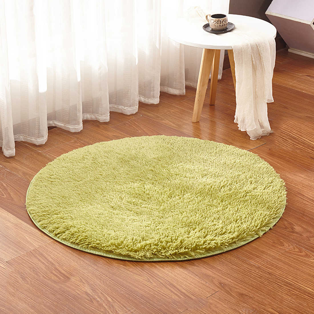 Soft Shaggy Area Round Rug Living Room Carpet Bedroom Floor