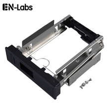 "En-Labs Tool Free 5.25-Inch CD-ROM Space HDD Frame/Mobile Rack Converter Enclosure Case 3.5"" SATA Hard Drive Disk Installation(China)"