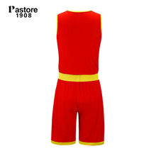 pastore1908 Basketball Jersey suit mens reversible jerseys breathable running sportswear team sets solid blank custom jersey 229