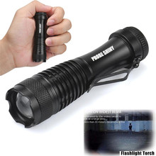 Newest Q5 AA/14500 3 Modes ZOOM Super Bright LED Flashlight MINI Police Torch wholesales NOJ08