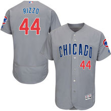 MLB Men's Chicago Cubs Anthony Rizzo Road Gray Royal Alternate Home White/Royal Flex Base Authentic Collection Player Jersey