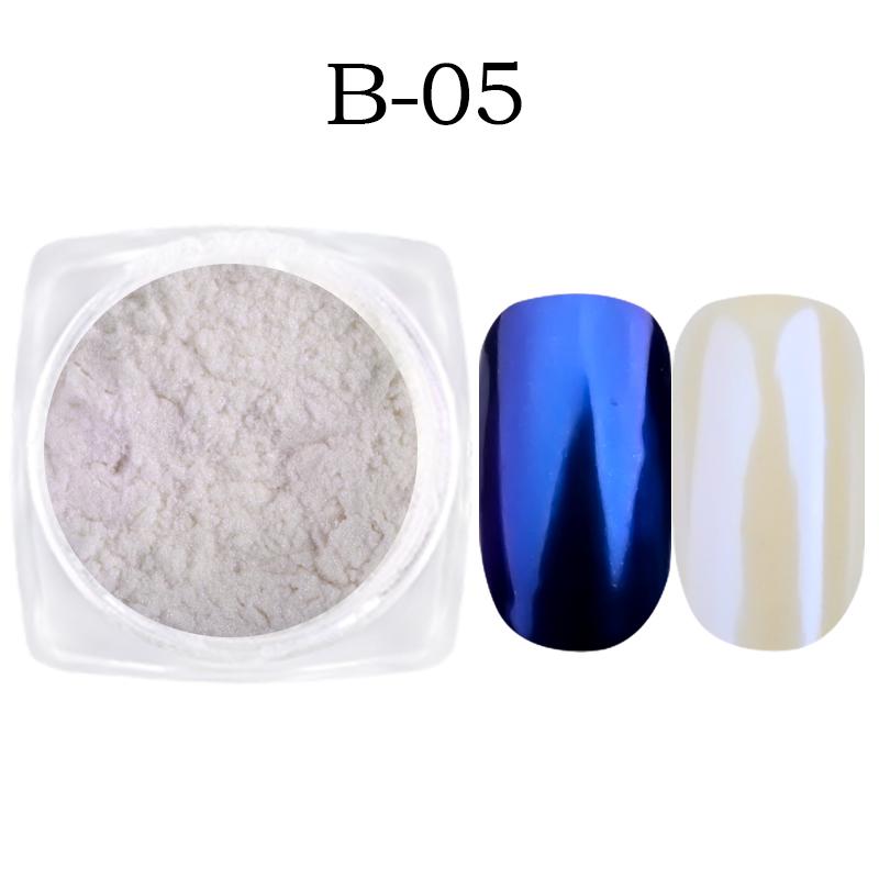 1-gr-schachtel-Shell-Nagel-Spiegel-Pulver-Glitters-Blau-Lila-Pigment-Staub-Manik-re-Nail-art