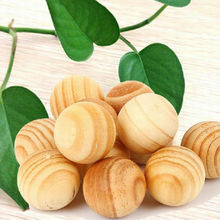 10pcs/pack Repellent Moth Balls Beads Natural Cedar Wood Bead Wardrobe Clothes Drawer Housekeeper 1.5cm Diameter