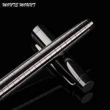 High Quality MONTE MOUNT luxury Gray Cross Line Business office Medium nib Rollerball Pen New