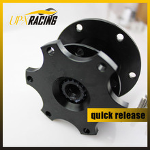 Auto universal Steering Wheel Quick Release Hub Adapter Snap Off Boss kit black