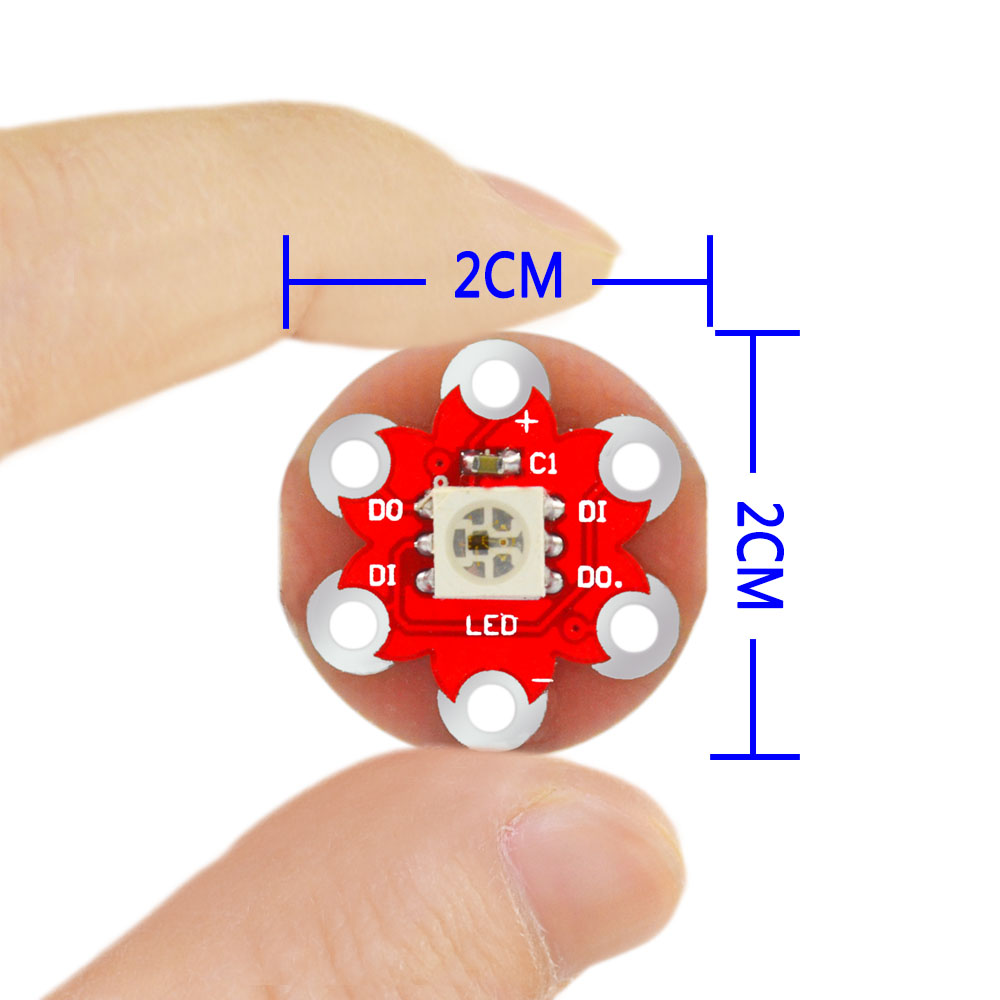 Free  shipping!  Keyes wearable WS2812 RGB L ED module for Lilypad(China)