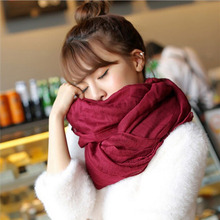 180*70 cm Fashion Women's Long Scarves Candy Colors Soft Cotton Scarf Wrap Shawl scarves Accessories 9 colors(China)