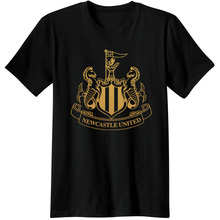 2017 Newcastle United magpie fan T-Shirts Tee Camiseta jersey classic Newcastle United Club footballs soccers logo T shirt 2018