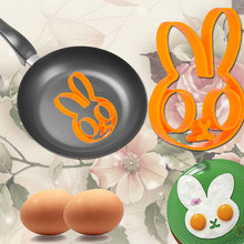 Hot Breakfast Silicone Rabbit Love Smile Star Fried Egg Mold Pancake Ring Shaper Cooking Tools Kitchen Gadgets Kid Gift