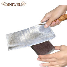 DINIWELL 1 PCS Brown Nano Emery Clean Magic Super Cookware Eraser Kitchen Pot Descaling Small Cleaning Sponge Removing Rust Rub(China)