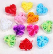 20 box wedding bridal shower favor gifts party supplies decor baby shower birthday guest souvenirs rose soap flower bath soap