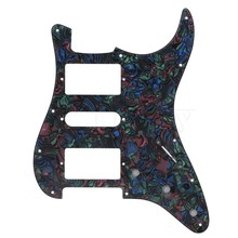 Yibuy Pearl PVC Electric Guitar Pickup Humbucker HSH Pickguard  Scratchplate 3Ply