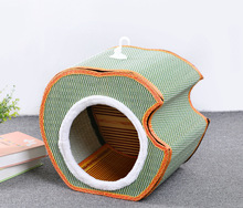 REmovable Pet Products Breathable Dog House Dog Kennel Bamboo Rattan Cat Bed Cat House Free Shipping