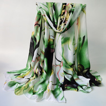 Fashion Style Printed Scarves Women's Long Shawl Spring Silk Pashmina Chiffon Infinity(China)