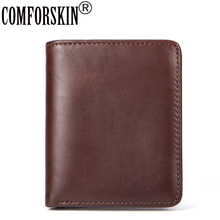 COMFORSKIN New Arrivals European American Vintage Slim Bi-fold Men Wallets 2018 Carteira Masculina Two Different Style Purse(China)