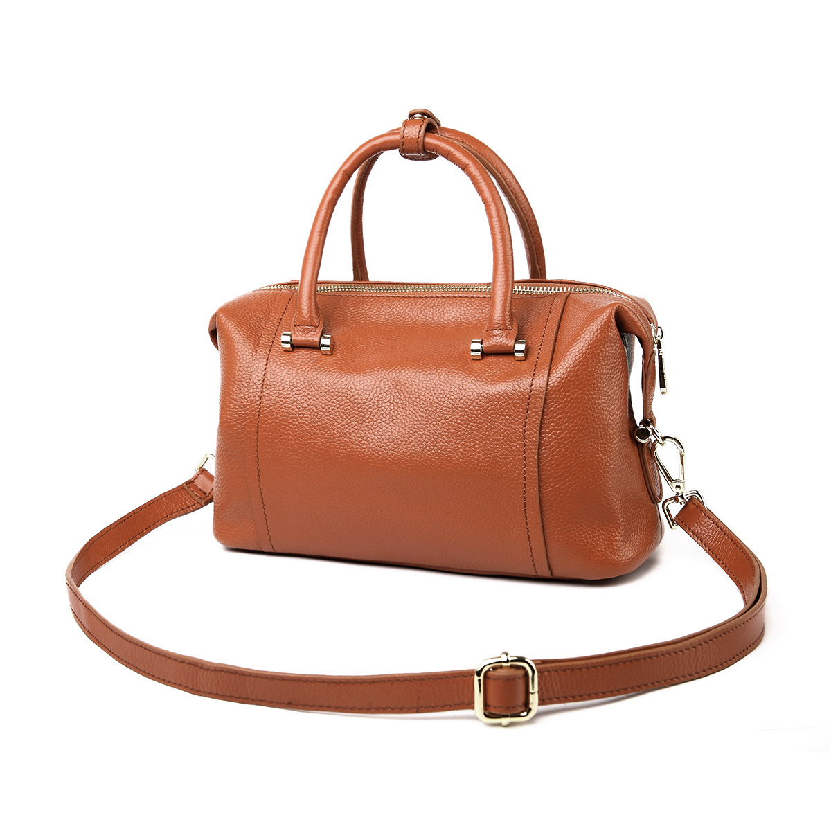 100% REAL Genuine Leather - 2016 Solid women bags leather handbags shoulder bag top handle cross body bag messenger bags(China (Mainland))