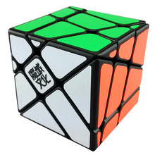 YJ MoYu Crazy Fisher Cube Strange-Shape Speed Magic Puzzle Cube Twist Cubes Cubo Magico Educational Toys Kids Gift Free Shipping(China)