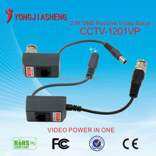 10pairs 2  in one  passive balun utp cctv video balun for cctv camera with Male BNC connector