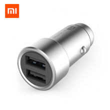 Original Xiaomi Car Charger Dual USB 5V/3.6A Quick Charge Full Metal For Android IOS System Mobile Phones Tablet PC USB Type-C
