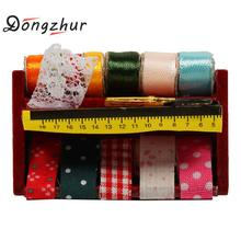 Dongzhur Miniature Sewing Supplies Wooden Boxes 1:12 Dollhouse Accessories Emulation Model Mini Sewing Box Doll House Decoration(China)