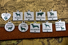 "Rvs charms ""Aannemen/beagle/boxer/bulldog/chihuahua/crazy (hond) lady/teckel/deberman"" charm hanger(China)"