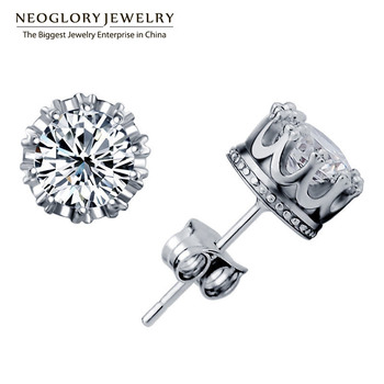 Neoglory Jewelry Zircon High-end Stud Round Earrings for Women 2017 New Arrival Wedding Brand Birthday Gifts P1 GN