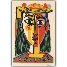 Picasso Abstract Paintings Modern Art Painting Image For Home Decoration Silk Canvas Fabric Print Poster Wallpaper CX180