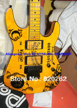 New Arrival Kirk Hammett Ouija Yellow Electric Guitar High Quality Wholesale Free Shipping