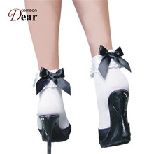Comeondear HA2100 Socks Women Bow Tie Funny Socks Lingerie Hot Comfortable Sexy Kousen Breathable Medias Leg Trend Sexy
