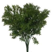 Green Artificial Plastic Plant 6 Branches Parsley Grass Home Wedding Decor Household Store Dest Rustic Decoration Clover Plant