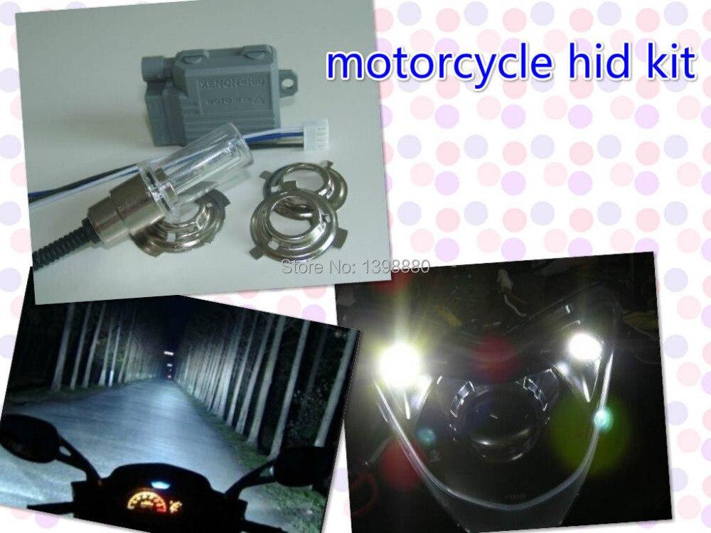 12V 35W 4300K Good quality mini Motor/Motorcycle Bike Hid Lights Kit H6 Hi/Low Xenon Bulbs Headlamp Free shipping<br><br>Aliexpress