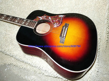 Custom Acoustic Guitar Fire Burst Hummingbird guitar IN STOCK China Guitar Factory wholesale free shipping