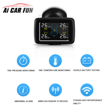 U901 Car Wireless TPMS Tire Pressure Monitoring System with 4 External Sensors LCD Display