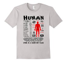 Human Ingredients - Product Label - Funny Science T-shirt Design Tops Novelty Women Brand Top Harajuku T Shirt Top Tee