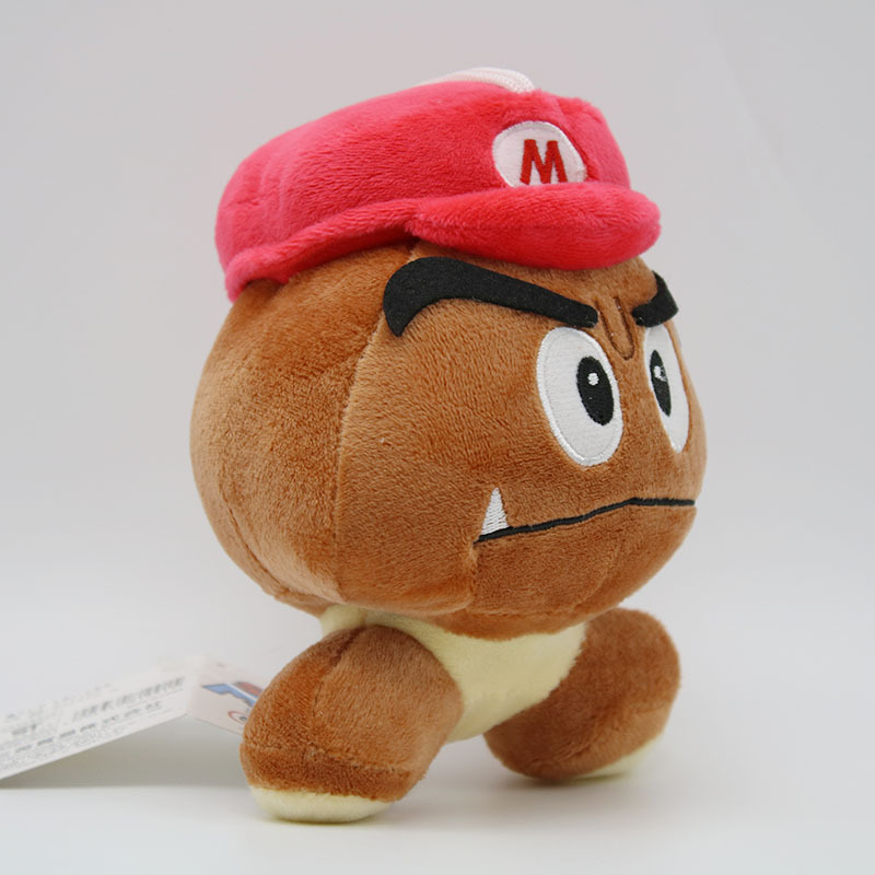 Super Mario Bros Goomba Plush Toys Game Cartoon Poisonous Mushrooms Soft Stuffed Dolls 5pcslot  (8)