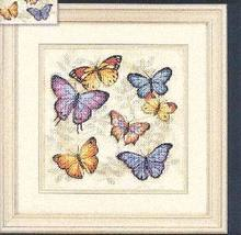 Fishxx Cross Stitch T225 flowers [butterfly flowers] Department quietly elegant Imported meters cloth 14CT,Need to embroidery